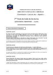 30100 Quest rép Loi 01 Juillet 2005 - Footeo