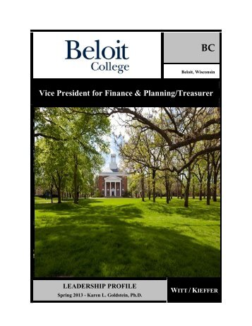 Vice President for Finance & Planning/Treasurer - Beloit College