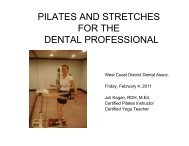Pilates & Stretches-Handout - West Coast Dental Association