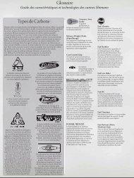 Glossaire Types de Carbone - Pêcheur.com