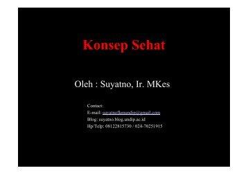 IKM3-Konsep Sehat - Suyatno, Ir., MKes - Undip