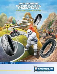 2012 Michelin Motorcycle tire fitMent guide - Michelin Motorcycle Tires