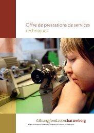 Offre de prestations de services techniques - Fondation Battenberg
