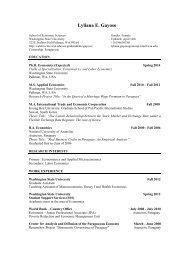 Curriculum Vitae - Washington State University