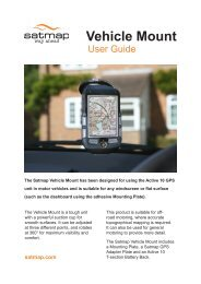 Vehicle Mount User Guide - only available in English - Satmap