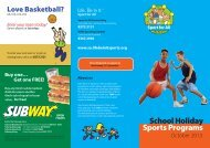 School Holiday Sports Programs - Life. Be in it