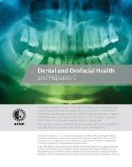 Dental and Orofacial Health and Hepatitis C - ASHM