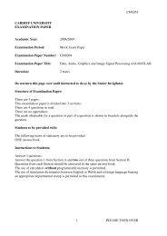 Mock Exam Paper - Cardiff University