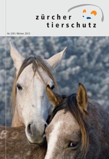 Nr. 230 / Winter 2012 - Zürcher Tierschutz
