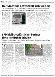 Hürther Impulse Dezember 2007 Seite 2-7 - SPD Ortsverein Hürth