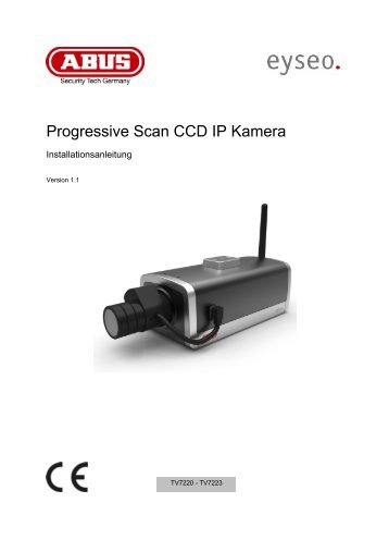Progressive Scan CCD IP Kamera