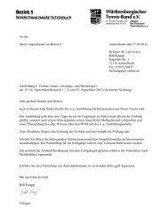 Ausschreibung und Anmeldung - WTB