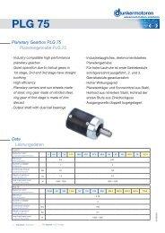 Planetary Gearbox PLG 75 - Dunkermotoren