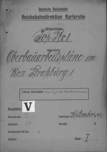Reiehshahndirektion Karlsruhe - archives historiques SNCF