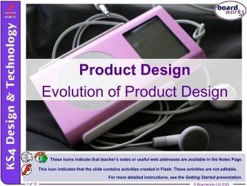 Evolution of Product Design - Kingsdown School