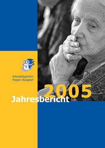Jahresbericht - Alterspflegeheim Burgdorf