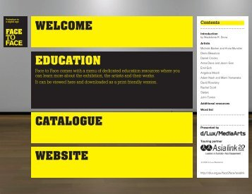 WELCOME EDUCATION CATALOGUE WEBSITE - DLux Media Arts