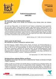 TUSCH Pressestimmen 1998-2003
