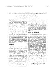 Fusion of neutron/proton-rich colliding nuclei using ... - Sympnp.org