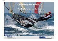 Sustainability and Innovation The lead market for Europe - Eurocodes