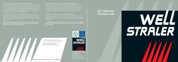 GAS radiatoren Radiateurs GAZ - Well Straler