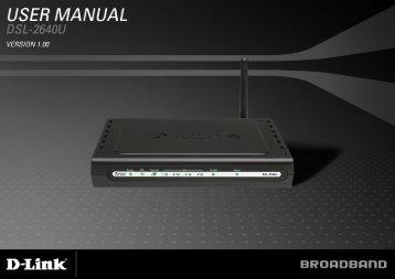 Table of Contents D-Link DSL-2640U User Manual 1