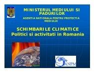 Cadrul legal de reglementare in domeniul schimbarilor climatice in ...