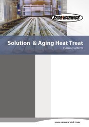 Solution Heat Treat Furnace Systems - Seco-Warwick