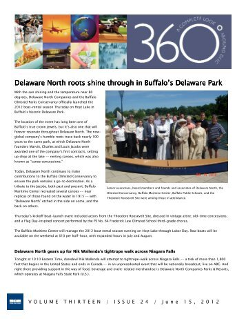 Delaware North roots shine through in Buffalo's Delaware Park ...