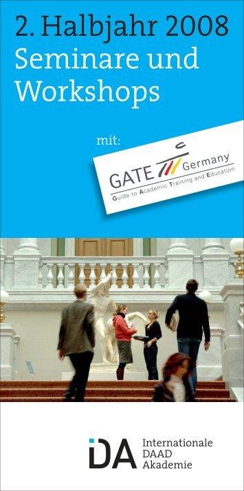 Broschüre 2. Halbjahr 2008 - Internationale DAAD-Akademie (IDA)