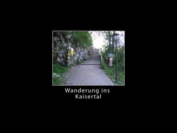 Wanderung ins Kaisertal - Mike Buckenauer