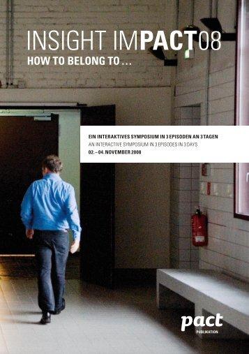 PDF Dokumentation - PACT Zollverein