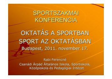 Rabi Ferencné - Nemzeti Sport Intézet