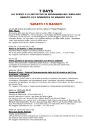 T DAYS - Bologna Welcome