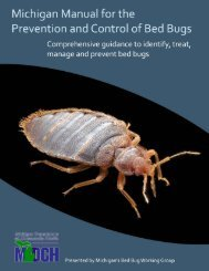 Bed Bug Manual - State of Michigan