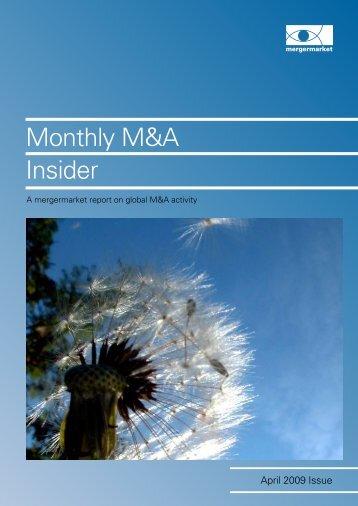 Monthly M&A Insider - Mergermarket