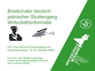Hochschule Wismar - Internationale DAAD-Akademie (IDA)