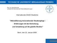 Prof. Dr. Horst Brezinski, Lehrstuhl für Internationale ...