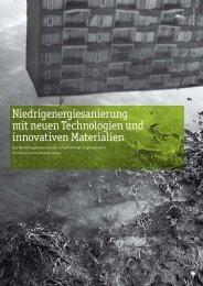 Niedrigenergiesanierung mit neuen Technologien und innovativen ...