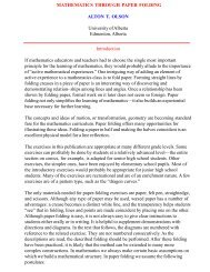MATHEMATICS THROUGH PAPER FOLDING ALTON T ... - Eledu.net