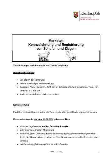 Merkblatt Schafe-Ziegen 2013