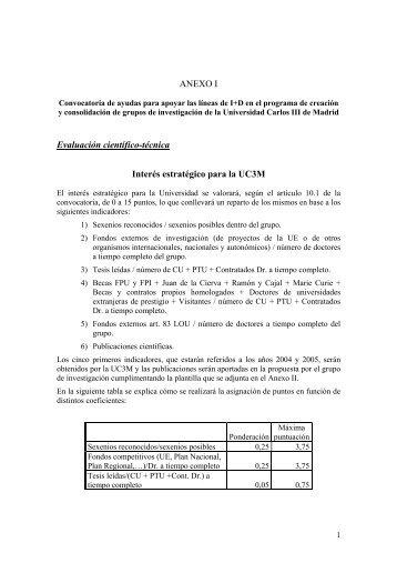 datos generales a incluir en el contrato –programa - Madri+d