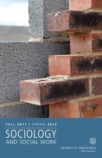 SOCIOLOGY - University of Toronto Press Publishing
