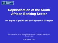 3 September 2003 - Standard Bank - Investor Relations