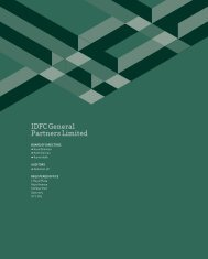 IdfC General partners Limited