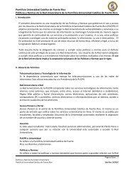 Políticas y Normas de la Red Universitaria - Pontificia Universidad ...