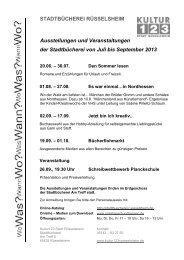 Vierteljahresprogramm der Stadtbücherei (PDF) - Stadt Rüsselsheim