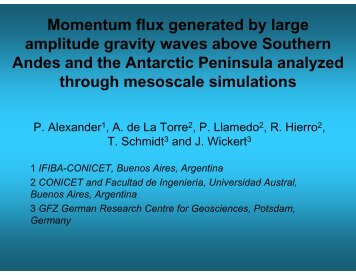 Momentum flux generated by large amplitude gravity waves above ...