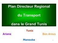 Plan Directeur Régional du Transport dans le Grand ... - Euromedina
