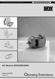 AC Motors DRS/DRE/DRP - SEW Eurodrive